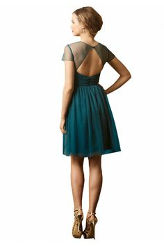 Stunning open back Watters WTOO dress from Weddington Way. LOVE the soft and flowy fabric and the gorgeous backless detail Backless Bridesmaid Dress, Green Bridesmaid Dresses, Sister Wedding, Wedding Fun, Wedding Bells, Wedding Reception, Wedding Stuff, Dream Wedding, Wedding Ideas