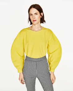 Image 3 of TROUSERS WITH SMALL CHECKS from Zara