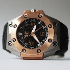 Linde Werdelin - Oktopus Double Date Titanium Rose Gold #lindewerdelin #LW #wristwatch #skeletonwatch