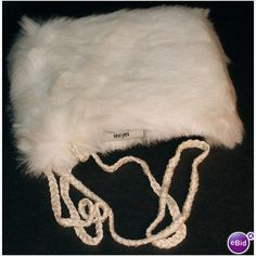 Nicole Miller Cell Phone ipod Pouch White Fake Fur NCAS1158 New Old Stock on eBid Canada