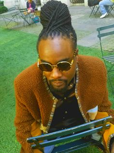 Recording artist Wale hair styled by Simone Hylton. Men loc style, fashion Dreads,  Black men with style.