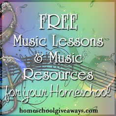 FREE Music Lessons and Music Resources for your homeschool!