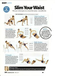 how to be fit without losing the girlish waist.