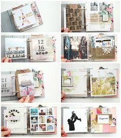 """Mini album """"Paris"""" Details 1 / Steffi Ried #scrapbooking #minialbum #cratepaper #maggieholmes"""