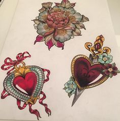 #illustration jewels heart ruby peony knife #neotraditionel #neotraditional #neo #traditionel #traditional #draw #drawing #tattoo #ink #tattooed #inked #sketch #sketches #men #man #flowers #animals #roses