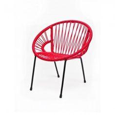 Chaise Tica Scoubidou - Rouge