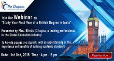 Desire to Study in UK University? Guaranteed Admission in one of 11 NCUK Universities! Attend Webinar by Mrs. Bindu Chopras. Register @ https://attendee.gotowebinar.com/register/6460305183266086913   #webinar  #ncuk