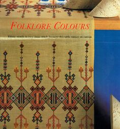 Beautiful Heirloom 'Folklore' Ethnic by TheAtticofKitsch on Etsy Craft Patterns, Sewing Patterns, Ethnic Design, All Craft, Rectangle Shape, Folklore, Table Runners, Cross Stitch Patterns, Bohemian Rug