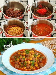 Misket Köfteli Nohut Yemeği (videolu) – Nefis Yemek Tarifleri Sebze yemekleri – The Most Practical and Easy Recipes Turkish Recipes, Italian Recipes, Ethnic Recipes, Olive Recipes, Good Foods To Eat, Food To Make, East Dessert Recipes, Chickpea Recipes, Healthy Recipes