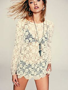 Free People Infinite Arms Lace Tunic, $168.00. Super cute!