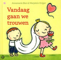 Vandaag gaan we trouwen Wedding Illustration, Preschool, Bride, Comics, Creative, Fictional Characters, Groom, Weddings, Wedding Bride