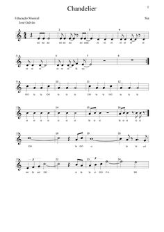 Chandelier - SIA - CL Partitura pag1-2 https://www.youtube.com/watch?v=xnvsROjBqDc