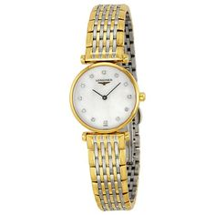 Longines La Grande Classique Diamond Mother of Pearl Two-Tone Steel Ladies Watch L42092877 -- Read more  at the image link.