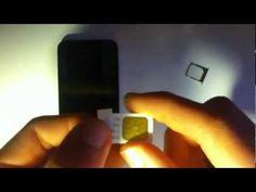 Normale SIM-Karte in Micro-SIM ohne Schablone