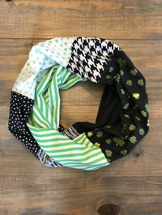 St. Patricks Day Infinity Scarf by KutKloth on Etsy