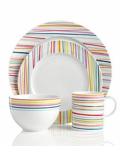 THOMAS by Rosenthal Dinnerware, Sunny Day Stripes Collection - Casual Dinnerware - Dining & Entertaining - Macy's