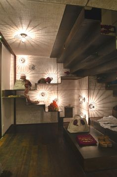 Lighting in Biasa shop by PT Green Design, Sanur – Indonesia Bali Baby, Bali Shopping, Modern Spaces, Visual Merchandising, Contemporary, Lighting, Projects, Ballet, Shelves