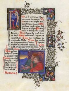 """""""How do I love thee"""" Let me count the ways""""                       Sonnet 43    Poet Elizabeth Barret Browning  'Sonnets from the Portuguese'  Illustrated by Artist Phobe Anna Traquair's illuminated copy. Folio 44"""