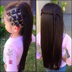This is a cute simple hairdo I think anyone can pull off💖💖 Lil Girl Hairstyles, Black Kids Hairstyles, Black Girl Braided Hairstyles, Girls Natural Hairstyles, Natural Hair Styles, Short Hair Styles, Children Hairstyles, Toddler Hairstyles, Teenage Hairstyles