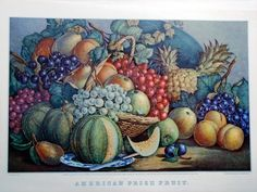 American Prize Fruit  by Currier & Ives