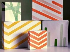 The easiest wall art ever - made with washi tape