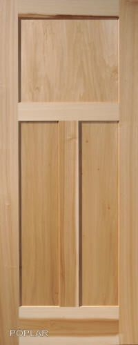 4 Panel Poplar Equal Flat Mission Stain Grade Solid Core Interior Wood Doors  | Wood Doors, Doors And Woods