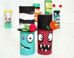 Muñecos hechos con tubos de papel higiénico - Manualidades de papel y cartón - Manualidades para niños - Página 4 - Charhadas.com