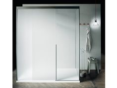 Box doccia rettangolare in vetro con porte scorrevoli SLIDING by Boffi