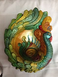 Peacock Bowl by TheStores on Etsy, $18.99