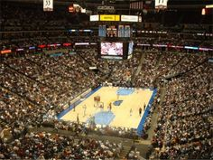 Pepsi Center, NBA arena where the Denver Nuggets play to a packed crowd.