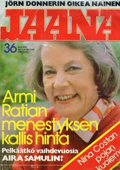 Jaana n:o 36 1976 Armi Ratia. Jukka Kuoppamäki. Aira Samulin - Huuto.net