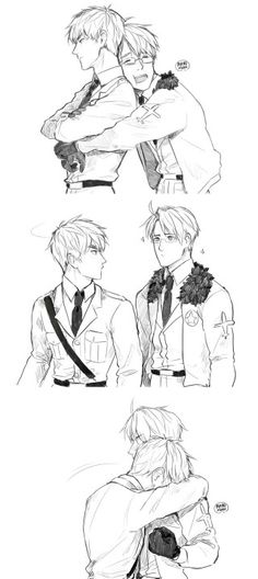 "Hetalia - America / England (UsUk)<<< I like how America has that ""YEEAASS!!"" Fist at the end there"