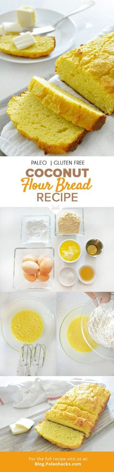 One of the biggest obstacles to my transition over to the Paleo diet was giving up bread, but after playing around with all kinds of different flours and recipes, I�ve come up with a couple that I absolutely love; this coconut bread is one such recipe. Fo