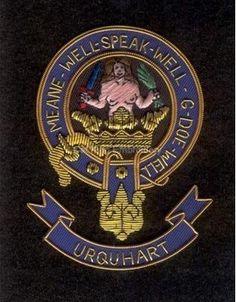 Urquhart clan crest badge - Meane Well Sperk Well G Doe Well