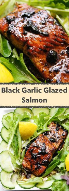 20min Salmon with Black Garlic Glaze recipe is amazing, but the 4 ingredients glaze works great over veg salads too. Try and see for yourself!