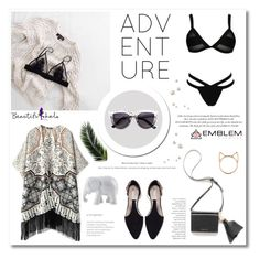 """Vacay"" by soygabbie ❤ liked on Polyvore featuring Zara, Elle Macpherson Intimates, The Elephant Family, Behance and Gianvito Rossi"