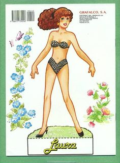Paper Doll booklet, Miss Laura, Changes of Clothing