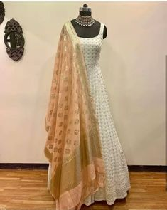 Buy it now 💝 Sizes Available 💕  Indian Gowns Dresses, Indian Fashion Dresses, Dress Indian Style, Pakistani Dresses, Fashion Outfits, Designer Party Wear Dresses, Kurti Designs Party Wear, Lehenga Designs, Indian Wedding Outfits