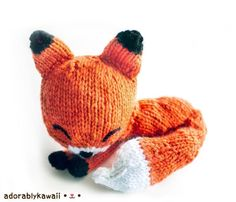 Knit Sleepy Fox Amigurumi | Craftsy