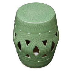 Chinese Coin Design Porcelain Garden Stool