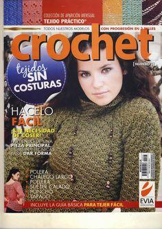Butterfly Creaciones: revista croche evia 3 Knitting Magazine, Crochet Magazine, Crochet Books, Knit Crochet, Knit Fashion, Loom Knitting, Crochet Stitches, Free, Sweaters
