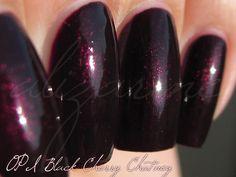 OPI: Black Cherry Chutney One of my favs! Opi Black Cherry Chutney, Black Cherry Nails, Black Cherry Color, Nail Polish Art, Nail Polish Colors, Stylish Nails, Trendy Nails, Elegant Nails, Luxury Nails
