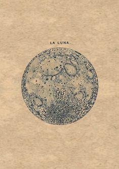 06f724f68698c2 la luna Planets, Full Moon Tattoos, Blue Moon Tattoo, La Luna Tattoo,