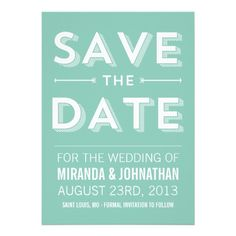 Bold Mint Chic Photo Save The Date Announcements