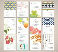 2014 Calendar Desk Calendar Desktop Calendar by PinkPlumDesign
