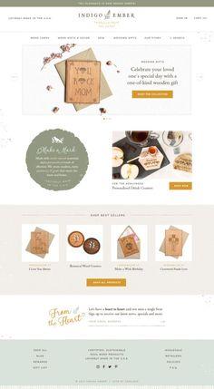 Indigo Ember Shopify website design - home page