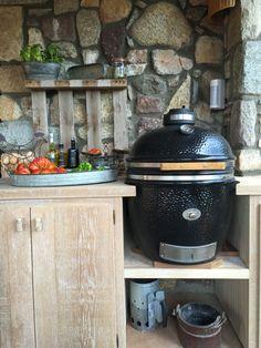 kamado, Monolith  fantástico horno de carbón!!!!cocina exterior