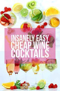 6 Easy Cocktail Recipes That Make Cheap Wine Taste Damn Good