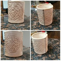 Leather Pencil Cup or a Dice Cup
