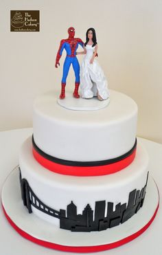spiderman wedding cake - Google Search